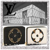 Louis Vuitton ZIPPY COIN PURSE Monogram Leopard Patterns Leather Coin Purses