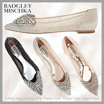 Badgley Mischka Plain Party Style With Jewels Flats