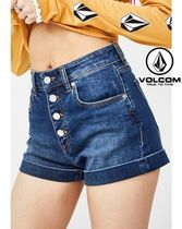 Volcom Short Denim Street Style Plain Denim & Cotton Shorts