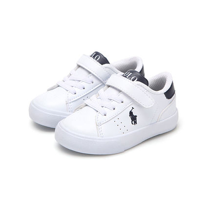 POLO RALPH LAUREN Blended Fabrics Street Style Dad Sneakers Kids Girl Sneakers