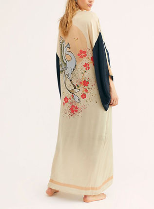 Casual Style Cropped Long Gowns Cardigans