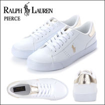 POLO RALPH LAUREN Round Toe Rubber Sole Casual Style Faux Fur Blended Fabrics