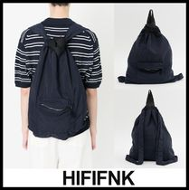 HI FI FNK Casual Style Unisex Street Style Backpacks