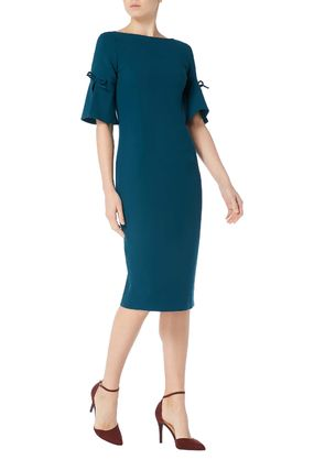 Tight Wool Plain Medium Short Sleeves Elegant Style Dresses