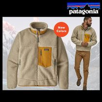 Patagonia Retro X Short Street Style Bi-color Plain Jackets
