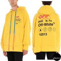 Off-White Sweat Street Style Long Sleeves Oversized Hoodies