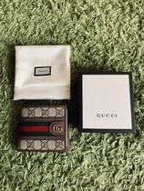 GUCCI GG Supreme Other Animal Patterns Leather Folding Wallet Logo