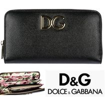 Dolce & Gabbana Plain Leather Long Wallets