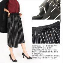 Stripes Casual Style Medium Culottes