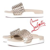 Christian Louboutin Blended Fabrics Shower Shoes Shower Sandals