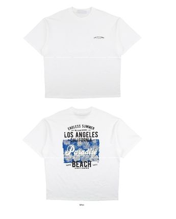 ASCLO More T-Shirts Street Style Collaboration Plain Cotton Short Sleeves 15