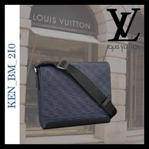 Louis Vuitton DAMIER INFINI Other Check Patterns Unisex Blended Fabrics Street Style