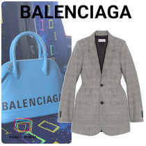 BALENCIAGA Glen Patterns Wool Jackets