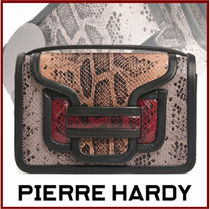 Pierre Hardy Casual Style Calfskin 2WAY Python Shoulder Bags