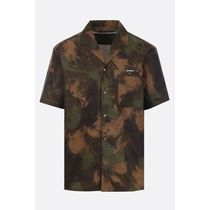Off-White Camouflage Cotton Short Sleeves Shirts