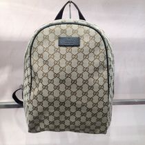 GUCCI Canvas Blended Fabrics Backpacks