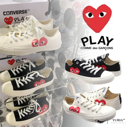 Heart Unisex Street Style Collaboration Low-Top Sneakers