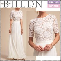 BHLDN Flower Patterns Medium Short Sleeves Elegant Style