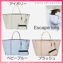 State of Escape Casual Style A4 2WAY Plain Handmade Totes