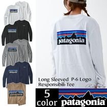Patagonia Crew Neck Pullovers Unisex Long Sleeves Cotton
