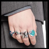 Louis Vuitton Flower Patterns Unisex Handmade Rings