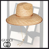 GUCCI Oversized Straw Hats