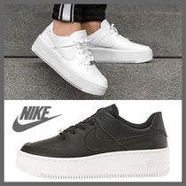 Nike AIR FORCE 1 Platform Casual Style Street Style Leather