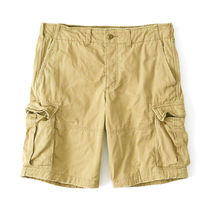 Abercrombie & Fitch Plain Cotton Cargo Shorts