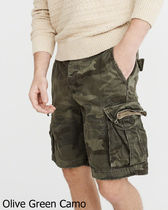 Abercrombie & Fitch Camouflage Cotton Cargo Shorts