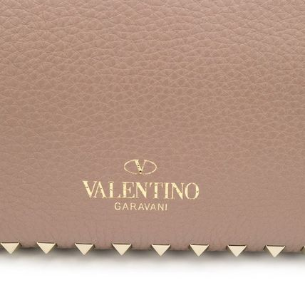 VALENTINO Totes Studded Plain Leather Totes 14