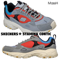 SKECHERS Blended Fabrics Leather Sneakers