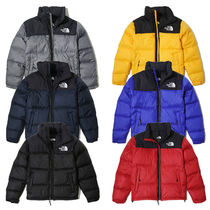 THE NORTH FACE Nuptse Short Unisex Fur Street Style Plain Oversized Down Jackets