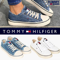 Tommy Hilfiger Blended Fabrics Street Style Plain PVC Clothing Sneakers