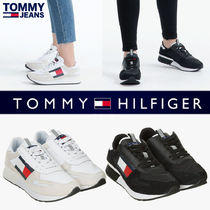 Tommy Hilfiger Round Toe Rubber Sole Casual Style Blended Fabrics