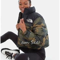 THE NORTH FACE Nuptse Short Camouflage Street Style Down Jackets