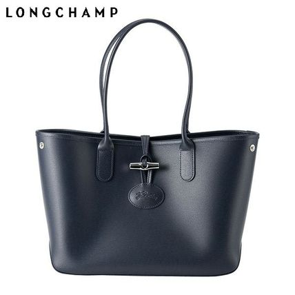 Casual Style A4 Leather Handbags