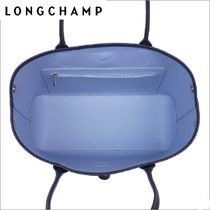 Longchamp Casual Style A4 Leather Handbags