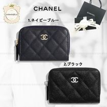 CHANEL TIMELESS CLASSICS Leather Coin Cases