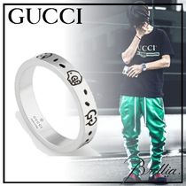 GUCCI Gucci Ghost Unisex Street Style Silver Rings