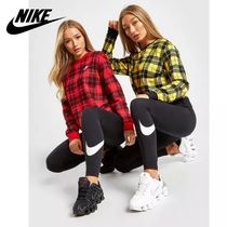 Nike Crew Neck Other Check Patterns Sweat Long Sleeves