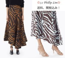 3.1 Phillip Lim Zebra Patterns Other Animal Patterns Long Maxi Skirts