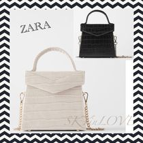 ZARA Casual Style Chain Other Animal Patterns Shoulder Bags