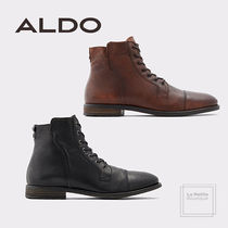 ALDO Plain Toe Plain Leather Oversized Boots