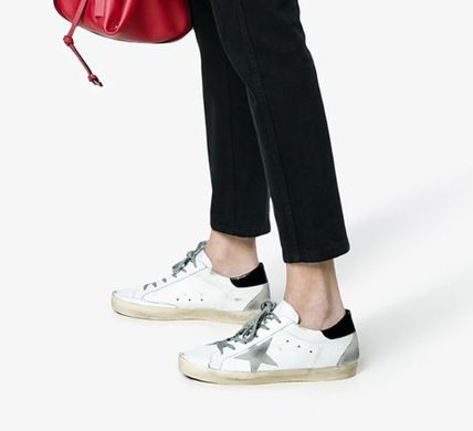 Casual Style Street Style Plain Leather Logo