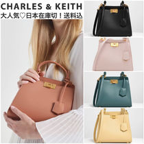 Charles&Keith Faux Fur 2WAY Chain Plain Elegant Style Handbags