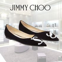 Jimmy Choo Suede Blended Fabrics Pumps & Mules
