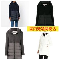 HERNO Wool Street Style Plain Medium Down Jackets