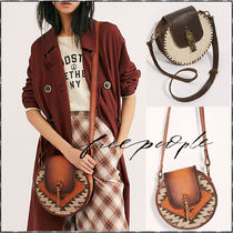 Free People Casual Style Blended Fabrics Leather Shoulder Bags