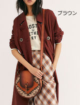Free People Casual Style Blended Fabrics Leather Crossbody Shoulder Bags