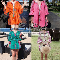 Tropical Patterns Long Sleeves Tunics